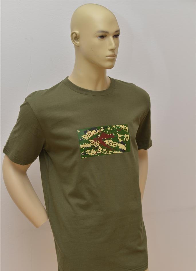 T-shirt majica vojnička s trobojnim tiskom