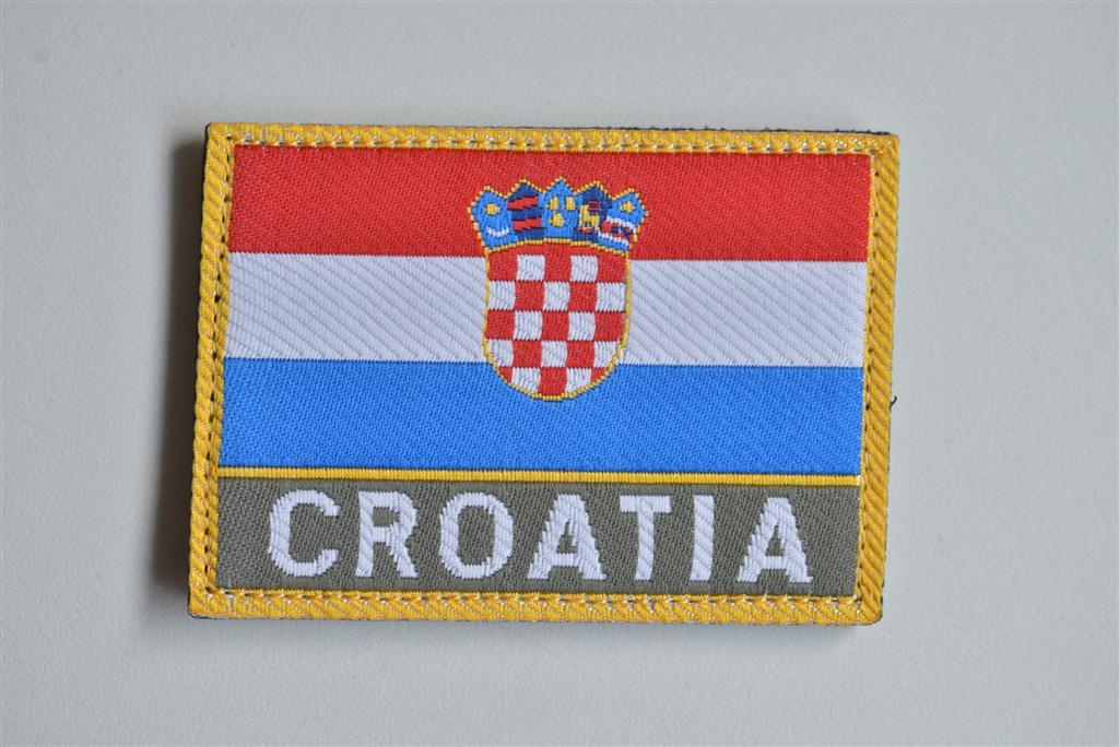 HV zastavica CRO na čičak