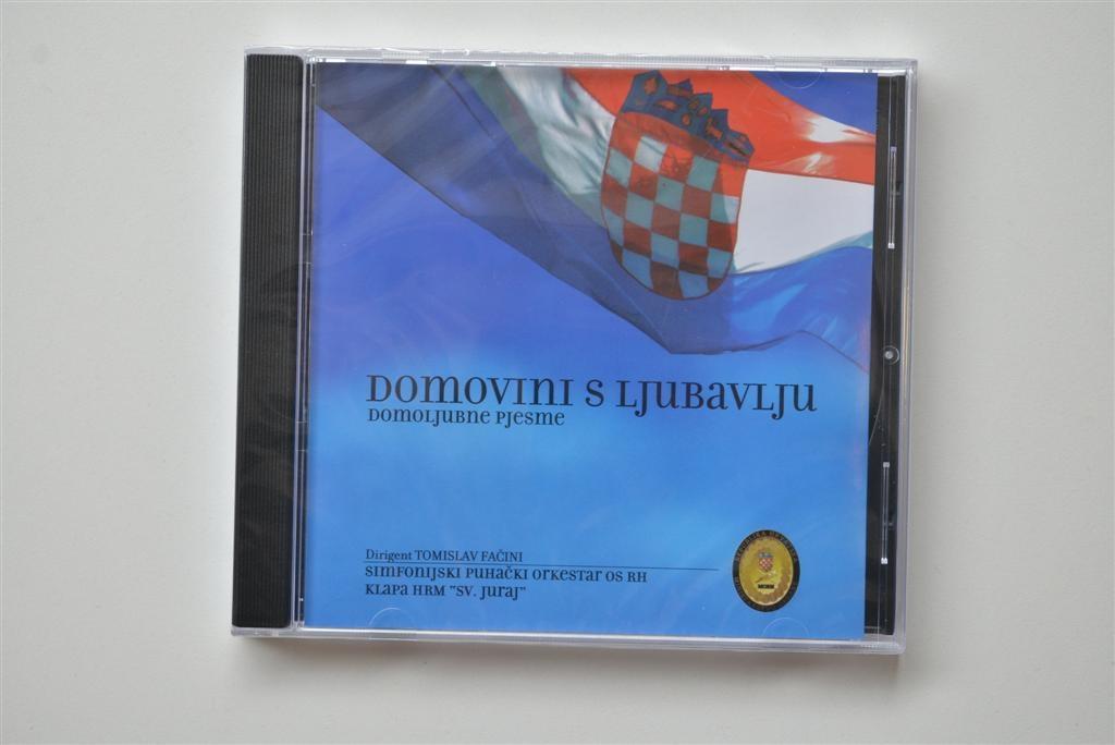CD Domovini s ljubavlju - domoljubne pjesme