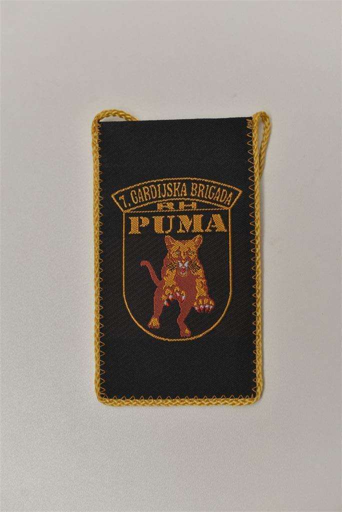 """Tkane zastavice stolne male - 7. gardijska brigada """"Puma"""""""
